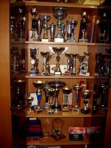 Osvojeni pokali športnikov društva